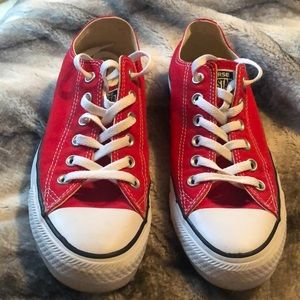 Red Converse Low Cut Sneakers